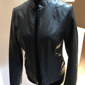 🎱I.N.C. Faux-Leather Moto Jacket - Size XS